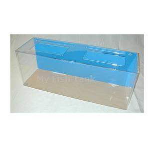 <p>Model 100R clear acrylic aquarium includes light hood, fluorescent light fixture and lifetime warranty.</p>