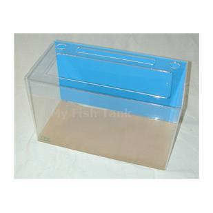<p>Model 15R clear acrylic aquarium includes light hood, fluorescent light fixture and lifetime warranty.</p>