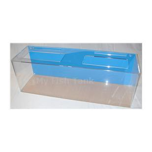 <p>Model 240R clear acrylic aquarium includes either an empty light hood or a clear polycarbonate light plate and a Limited Lifetime Warranty. NOTE, DUE TO THE COVIC-19 PANDEMIC AND THE GOVERNMENTS PRIORITY TOWARDS FACE MASK PRODUCTION OUR DELIVERY TIME ON