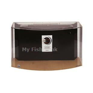 MYFISHTANK.COM offers the 50 gallon UniQuarium™ brand Bowfront acrylic aquariums with the 3-in-1 filtration system incorporated into the back of the aquarium. These systems combine mechanical, chemical, and biological filtration into a compact area and