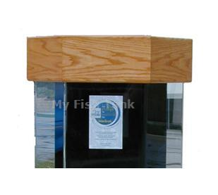 <p>LS Oak Hexagon Canopy is built with an oak veneer top and its body is solid oak. Canopy lid opens fully, hinges at rear and has rounded edges and lip.</p>