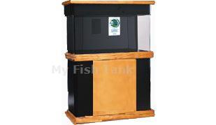 <p>GThe CS Series is a modern design that combines wood with matte black MDF.  CS stands are 30 inches tall. Stand base, skirt and doors are premium pinewood and the stand body is made with black matte Medium Density Fiberboard ( MDF ). Radiused edges. Doors