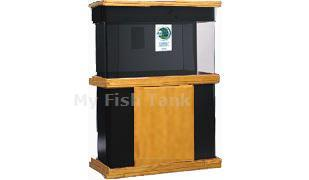 <p>The CS Series is a modern design that combines wood with matte black MDF.  CS Oak stands are 30 inches tall. Stand base, skirt and doors are premium oak and the stands body is made with a laminated black matte Medium Density Fiberboard ( MDF ). Radiused