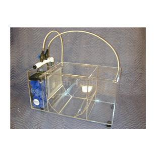 <p>Independent and Inexpensive. This complete SYSTEM simplifies the seperation of free swimming juveniles from adults AND includes its own built-in Wet-Dry Trickle Filter. Designed as a means of keeping and growing individual species of jellyfish in a compact