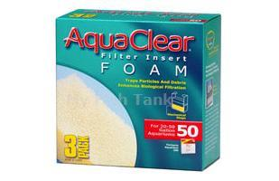 Remove larger particles of fish waste and other debris before it clogs your chemical and biological filter media. The 3 foam inserts in this pack fit Aqua Clear 50 filters.