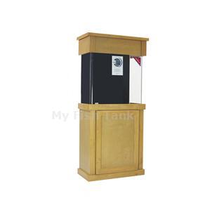 "<p>Laguna Pine Cabinet Stands are 30"" tall. Solid pine door trim and molding with pine veneer top and sides. Fluted columns and LARGE overlay doors with self-closing hinges. Tank insets into midband skirt 1-1/2"". Stained and sealed finish. Sizes listed are