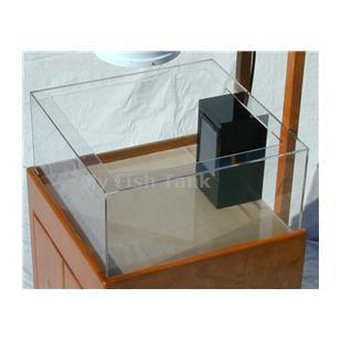 "<p>Upside Down - Mangrove - Cassiopeia Jellyfish tank only. Tank is 24"" square by 12"" Tall, all acrylic panels are clear. Three sided 6""x 8"" black internal overflow and single return assembly within the overflow is centered on back. Water exits through a wide