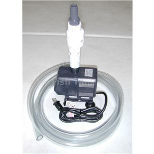 <p>Rio 2100 submersible water pump filter assembly contains all the items needed to complete a filter system, except the filter ( select filter seperately ).</p>
