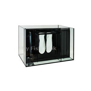 <p>65L Gallon VersaQuarium Glass Tank with plastic frame measures 48 1/2 x 18 1/2 x 19 3/8. NOTE, THESE GLASS TANKS ARE NOT SHIPPABLE, you will pick them up at our Los Angeles CA 90061 location.