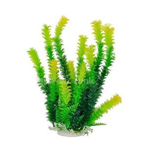 "Green Plant, Light Tips 16"" Aquarium Plant PD-BH39 w/ Weighted Base"
